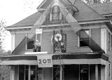 Homecoming Decorations on Old House (1941?)