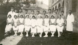 Many nursing students graduating from school in China.