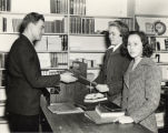 Students at Counter of North Park College Campus Bookstore, 1940