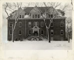 Students Leaving Wilson Hall in Winter, 1940