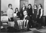 Eileen Matthesius, Linda (Anderson) Nyquist, Ada Herlin, MarvelNystrom (seated in Front), Eunice...