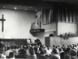 Donald Frisk speaking in Hamming Hall, c.a. 1960s