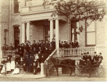 North Park College Students and Faculty Members Gathered in Front of Old Main, 1894