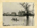 Spring in North Park--Flooded Campus, 1915