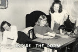 Resident Women (''Inside the Dorm'' Caption), ca. 1950s