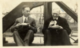 David Nyvall with North Park President Algoth Ohlson, 1928
