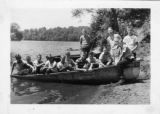 Boys sitting in a boat, c.a. 1950's