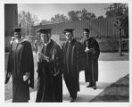 Administration Walking to Commencement, 1968