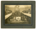 C.A. Nyrén's funeral at Swedish Christian Mission Church, Seattle, 1909