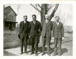 Portrait of E. Gust Johnson and 3 Unidentified Men