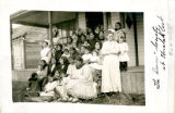 Dorcas Society in Front of Mission House, Unalakleet