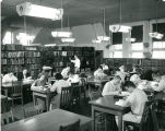 Portrait of Students at Work in the Old Main Library