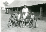 Ann Berg with Native Children