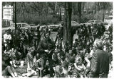 Students Protest the U.S. Invasion of Cambodia - Doug Nystrom addressing Milton Engebretson