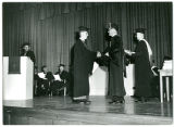 Pres.Olsson Giving Diploma to Son Kurt Olsson