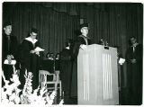 Clarence Nelson Speaking at Commencement (1959?)
