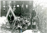 Fan Decorations in Front of Wilson Hall (1948?)
