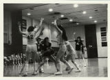 Women's Basketball, 1982-1983, women playing basketball, photo by Kirk Johnson
