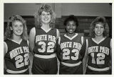 Women's Basketball Players Juniors Terry Haller, Barb Dunn, Seniors Janice Swanson, Ruth Pemberton...