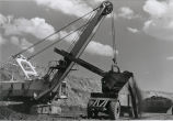 Coal loading shovel