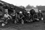 Miners waiting to start shift