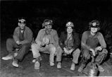 Miners on shift break