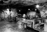 Underground shop area of a flourite mine