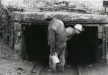 Miners entering underground mine