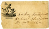 Envelope from Joseph Skipworth  to Mary Ann (Myers) Skipworth, [1800s]