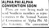 ALPHA PHI ALPHA CONVENTION SOON