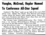 Vaughn, McGreal, Hepler Named To Conference All-Star Squad