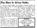 Plan Minor In African Studies