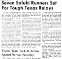 Seven Saluki Runners Set For Tough Texas Relays