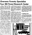 Overseas Forestry Specialists Tour SIU Forest Research Center