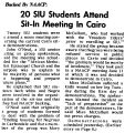 Backed By NAACP: 20 SIU Students Attend Sit-In Meeting In Cairo