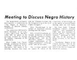Meeting to Discuss Negro History
