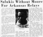 Salukis Without Moore For Arkansas Relays