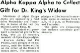 Alpha Kappa Alpha to Collect Gift for Dr. King's Widow