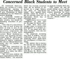 Concerned Black Students to Meet