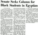 Senate Seeks Column for Black Students in Egyptian