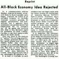 Reprint: All-Black Economy Idea Rejected