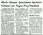 Black Alumni Association Sponsors Seminar for Negro Prep Students