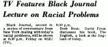 TV Features Black Journal Lecture on Racial Problems