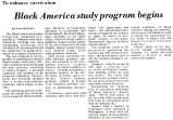 Black America study program begins