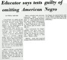 Educator says texts guilty of omitting American Negro