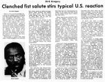 Dick Gregory: Clenched fist salute stirs typical U.S. reaction