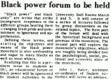 Black power forum to be held