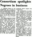 Consortium spotlights Negroes in business