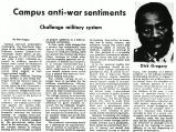 Campus anti-war sentiments challenge millitary system
