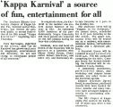 'Kappa Karnival' a source of fun, entertainment for all